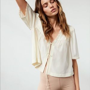 Wilfred White Silk 2019 Careen Blouse